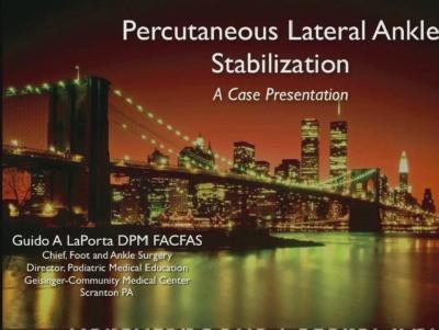 Present Podiatry Online Cme Conferences Percutaneous Lateral