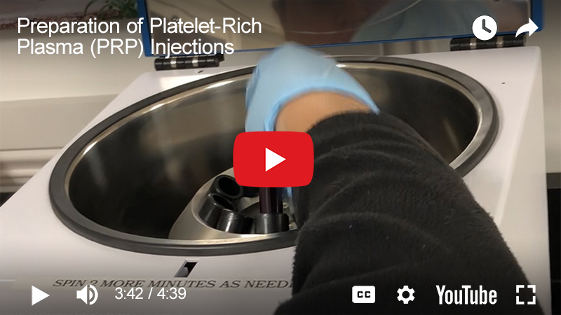 Residency Insight - Preparation of Platelet-Rich Plasma (PRP